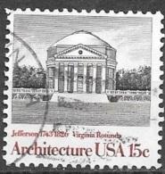 1979 15 Cents Architecture, Virginia Rotunda, Used - Usati