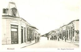 Usi243 Romania Roumanie Moinesti Bacau King Ferdinand Street Rue Roy Ferdinand Nice Advertising Old Car - Roemenië