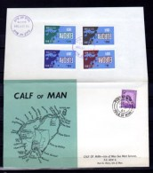 Calf Of Man, Europa 1064, Carte Géographique  Map,  FDC - Ortsausgaben