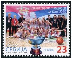 Serbia Serbien 2015 MNH** S-677 The European Champions Basketball: Women 2015 M - Basket-ball