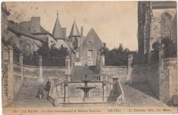 France, LE MANS, Escalier Monumental Et Maison Scarron, 1913 Used Postcard CPA [18227] - Le Mans