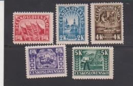 Czechoslovakia 1945 - Scott # 288-92 Set Of 5 MH Catalogue $1.75 - Unused Stamps