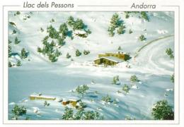 Lac Des Pessons L'Hiver, En Andorre, Carte Postale Neuve, Non Circulée. - Andorra