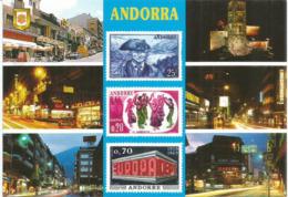 La Philatélie Et Ses Timbres Célèbres En Andorre, Carte Postale Neuve, Non Circulée. - Andorre