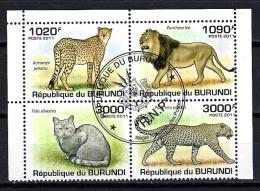 Burundi Animaux Félins (147) Série Complète De 4 Timbres Oblitérés