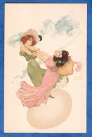 CPA Illustrée Par Raphael KIRCHNER - Jeunes Filles & Oeuf - TOP - Art Nouveau - Egg Girl Woman Mode Fashion - Kirchner, Raphael