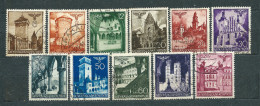 Poland 1940, GG / Generalgouvernement, MiNr 40-51 Used (5), Incomplete Series (missing MiNr 42) - General Government