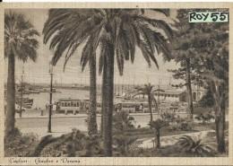 Sardegna-cagliari Giardini Dardena Tram Barche Differente Veduta Anni/30 - Cagliari