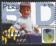 B)1999 PERU,  BID, CHILDREN, INTER-AMERICAN DEVELOPMENT BANK, 40TH ANNIVERSARY, SC 1242 A563, S/S, MNH - Peru