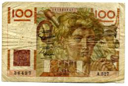 100 FRANCS 1953 - 1871-1952 Anciens Francs Circulés Au XXème