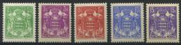 MONACO   15ème Anniversaire De L´avénement Du Prince Louis II   N° Y&T  155 à 158A  * - Ungebraucht