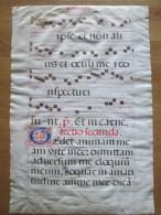 """Antiphonaire   Sur Parchemin  """"officium """" Chant Religieux - Non Classés"""