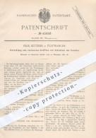 Original Patent - Felix Ketterer In Furtwangen , 1887 , Eröffnen Und Schließen Der Ventile , Ventil , Wasserleitung !
