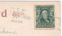 Lynn Massachusetts RFD Cancel 1906 Postmark, C1900s Vintage Postcard - Postal History