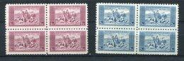 Czechoslovakia 1934 Mi 330-1 Sc 200-1 MNH Block Of 4 - Unused Stamps