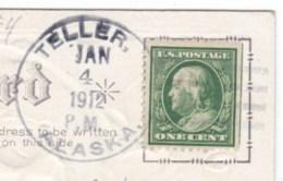 Teller Alaska, AK Territorial Postmark C1910s Vintage Postcard - Poststempel