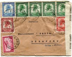 CONGO BELGE LETTRE CENSUREE DEPART BUTEMBO 8-9-44 POUR LA FRANCE
