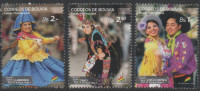 BOLIVIA, 2015, MNH, DANCES, COSTUMES, 3v - Costumes