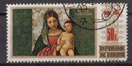 """C109 Burundi 1969 """" Madonna Col Bambino... """" Quadro Dipinto Da Giorgione Scuola Veneziana Preoblit. Paintings - Madonne"""