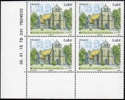 France Coin Daté N° 4967 ** Église Saint-Martial De Lestards - Corrèze Du 26.01.2015 - Ecken (Datum)