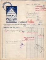 VP5208 - Facture - Les Appareils D´éclairages ¨SCLAIR¨Pierre MADEC à PARIS Rue De La Réunion - Electricity & Gas