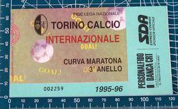 BIGLIETTO TORINO - INTERNAZIONALE 1995-96 - Biglietti D'ingresso