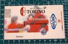 BIGLIETTO TORINO - TERNANA CURVA MARATONA 2000/2001 - Biglietti D'ingresso