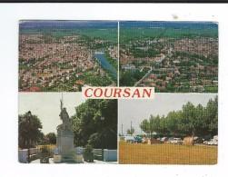 CPM   11 Coursan Multivues Circulé 1990 TBE - Otros Municipios