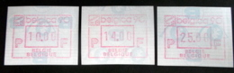 "Automatenmarken: Belgien - BELGICA 90 ""KOPFSTEHENDE ATM"": Satz N F. - Automatenmarken (ATM)"
