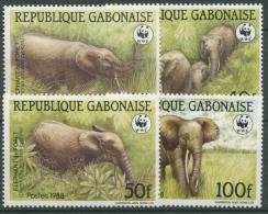 Gabun 1988 WWF Naturschutz Waldelefant 1009/12 Postfrisch - Gabun (1960-...)