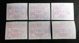 "Automatenmarken: Belgien - BELGICA 90 ""KOPFSTEHENDE ATM"": Satz N + F. - Vignettes D'affranchissement"