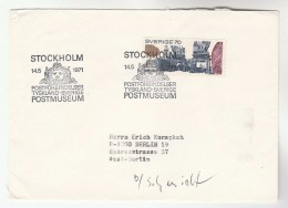 1971 SWEDEN POSTMUSEUM COVER Stamps SHIP - Sweden