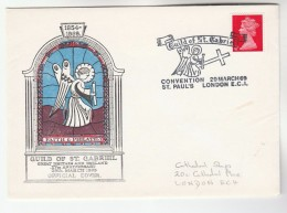 1969 GB  GUILD OF ST GABRIEL CONVENTION ,FAITH &  PHILATELY COVER Stamps Religion Christianity Philatelic Exhibition - Christianity