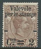 1890 REGNO VALEVOLE PER LE STAMPE 2 SU 1,75 LIRE MNH ** - G181-3 - Mint/hinged