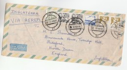 1976 Air Mail BRAZIL  COVER Stamps FISH Etc To GB - Fishes