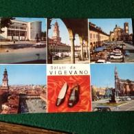Cartolina Saluti Da Vigevano  Scarpe Vedutine Viaggiata 1967 - Vigevano