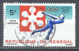 Sénégal Poste Aérienne YT N°113 Jeux Olympiques D'hiver Sapporo 1972 Patinage De Vitesse Oblitéré ° - Senegal (1960-...)