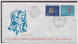 Antillen / Antilles 1963 FDC 24-2M Mental-public Health - Curaçao, Antilles Neérlandaises, Aruba