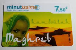 TELECARTE Carte Téléphonique Maghreb Minutissime 7,50€ Recharge - Algérie