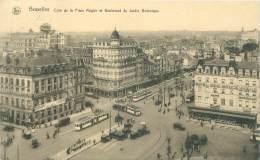 BRUXELLES - Coin De La Place Rogier Et Boulevard Du Jardin Botanique - Avenues, Boulevards