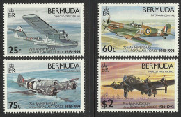 BERMUDA 1993 RAF ANNIVERSARY,AIRCRAFT SET MNH - Bermuda