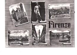 N2964 CARTOLINA Di Firenze, Multipla, Vedute + Annullo Storia Postale RECAPITO P.T. - C.T. FIRENZE 1967 - Firenze