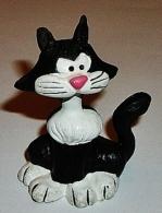 Figurine Gaston Lagaffe -chat Marsu- 5cm Schleich - Autres