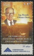 B)2000 PERU, RICARDO CILLONIZ OBERTI BUSINESSMAN, SC 1251 A570, S/S, MNH - Peru