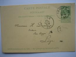 Entier Postal Armoiries ROEULS (LE) 19031 Vers LIEGE - Signé Soeur Lucie Pensionnat Des Soeurs Religieuses à ROEULX - Entiers Postaux