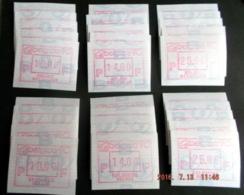 """Automatenmarken: Belgien - 5x Satz  """"BELGICA 90"""": F + N. - Vignettes D'affranchissement"""