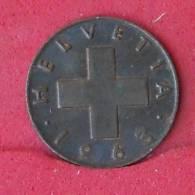 SWITERZERLAND 1 RAPPEN 1963 -    KM# 46 - (Nº15347) - Suiza