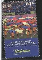 B)1999 PERU, PLAY, GAMES, NATL.  SCHOLASTIC GAMES,  TELEFONICA, SC 1257 A576, S/S, MNH - Peru