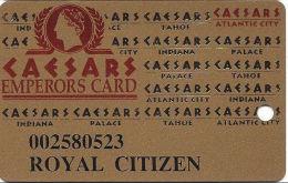 Caesars Casino Atlantic City, NJ Slot Card - Innovative Over Mag Stripe - ROYAL CITIZEN - Casino Cards