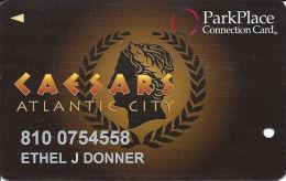 Caesars Casino Atlantic City, NJ Slot Card - ParkPlace Connection Card - Casino Cards